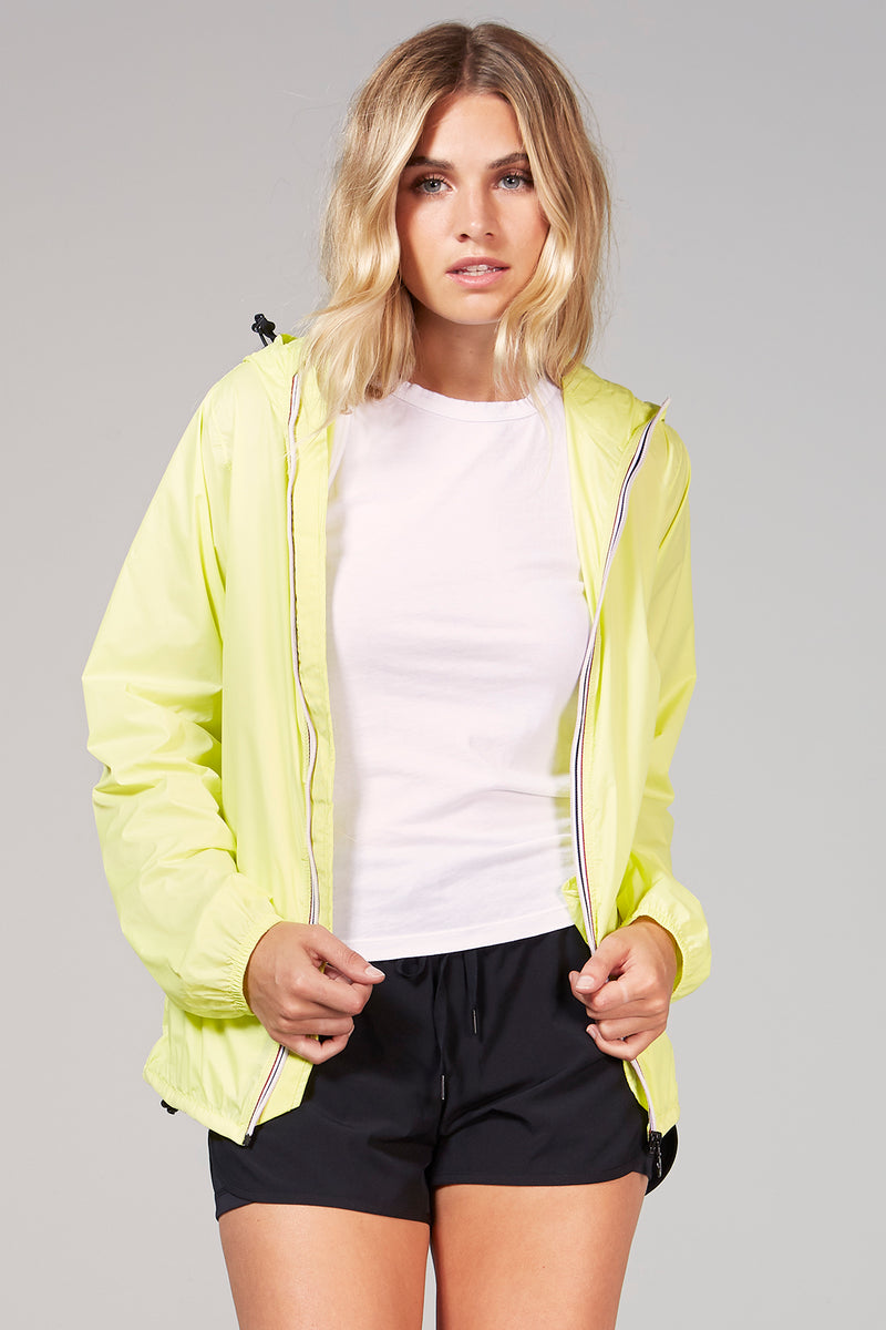 Sloane - Citrus Full Zip Packable Rain Jacket - Woman rain jacket -  O8lifestyle