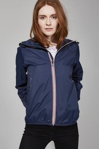 Navy Full Zip Packable Jacket