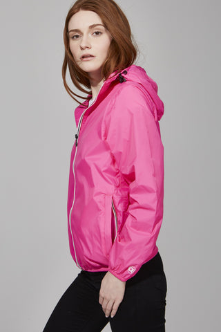 Pink Fluo Full Zip Packable Jacket