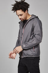 Grey Full Zip Packable Jacket