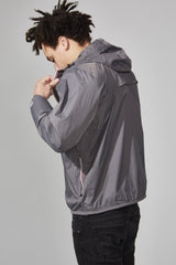 Grey Full Zip Packable Jacket - Men -  O8lifestyle