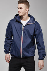 Navy Full Zip Packable Jacket - Men -  O8lifestyle