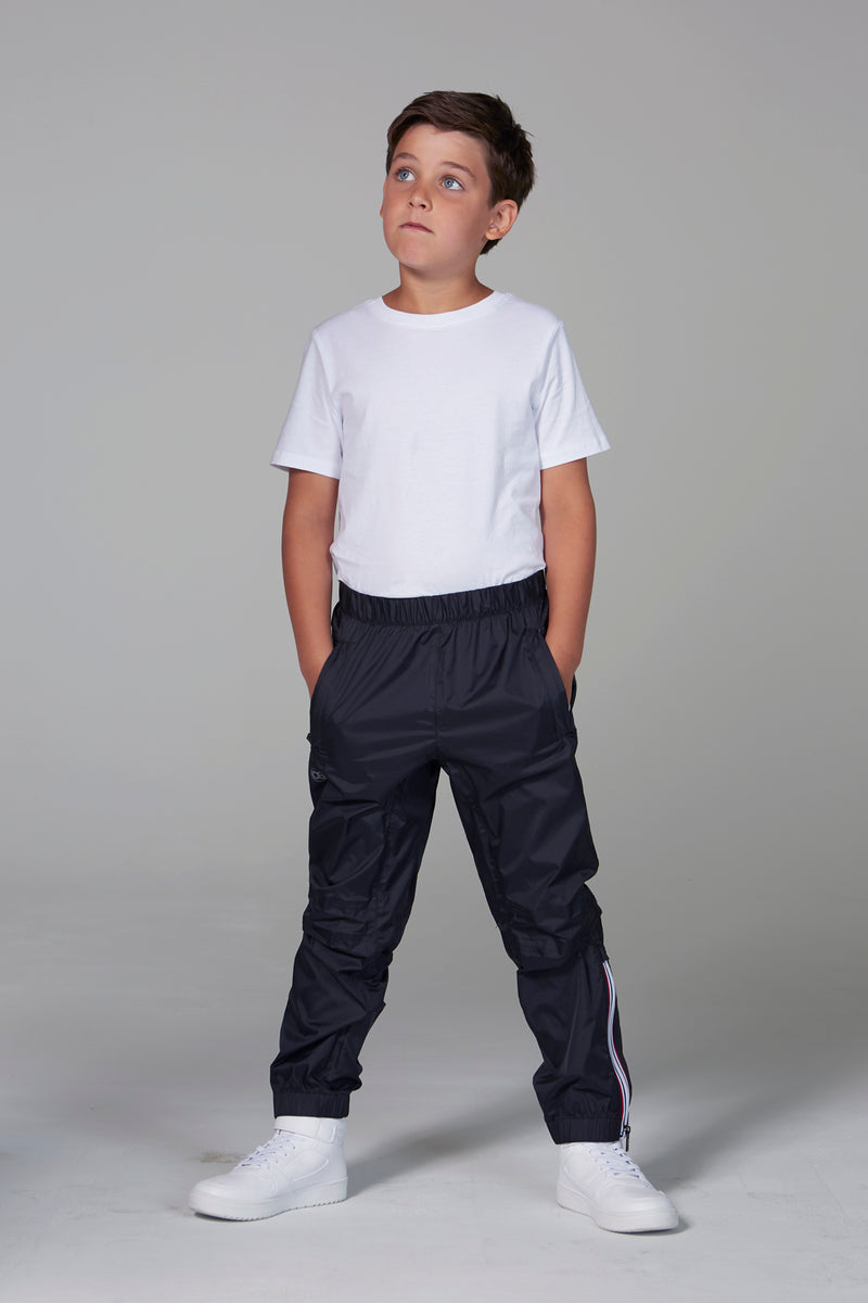 Stevie - kids black rainproof pants - pants -  O8lifestyle