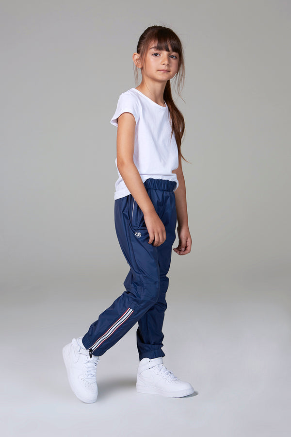 Stevie - kids navy rainproof pants - pants -  O8lifestyle