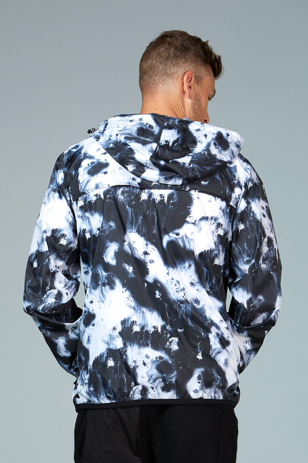 Mel Print - oil print full zip packable rain jacket - Coats & Jackets -  O8lifestyle
