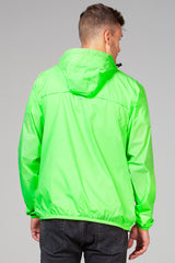 Mel - green fluo full zip packable rain jacket - Coats & Jackets -  O8lifestyle