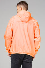 Mel - orange fluo full zip packable rain jacket - Coats & Jackets -  O8lifestyle