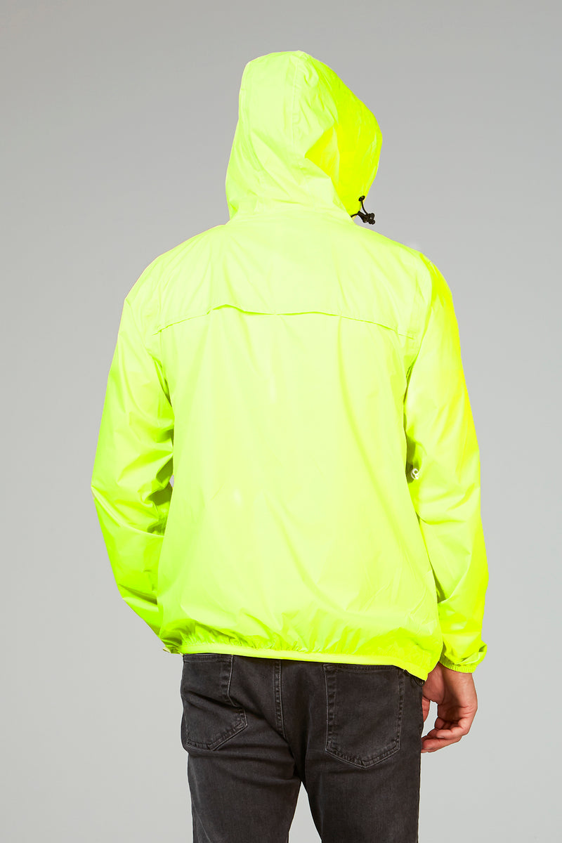 Mel - yellow fluo full zip packable rain jacket - Coats & Jackets -  O8lifestyle