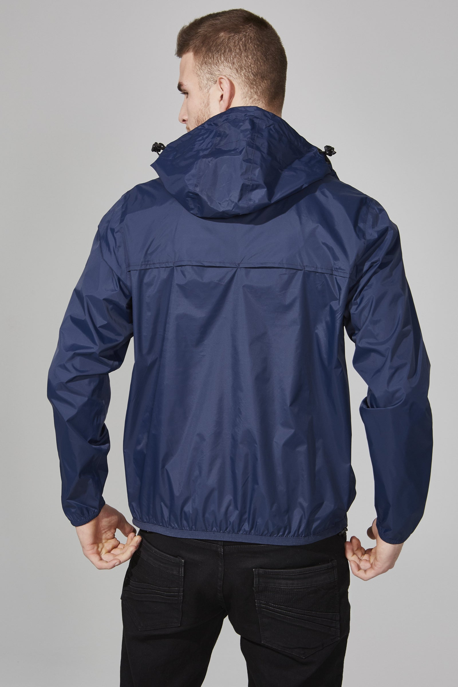 2cd6713bb Navy Quarter Zip Packable Rain Jacket | Man rain jacket | O8lifestyle