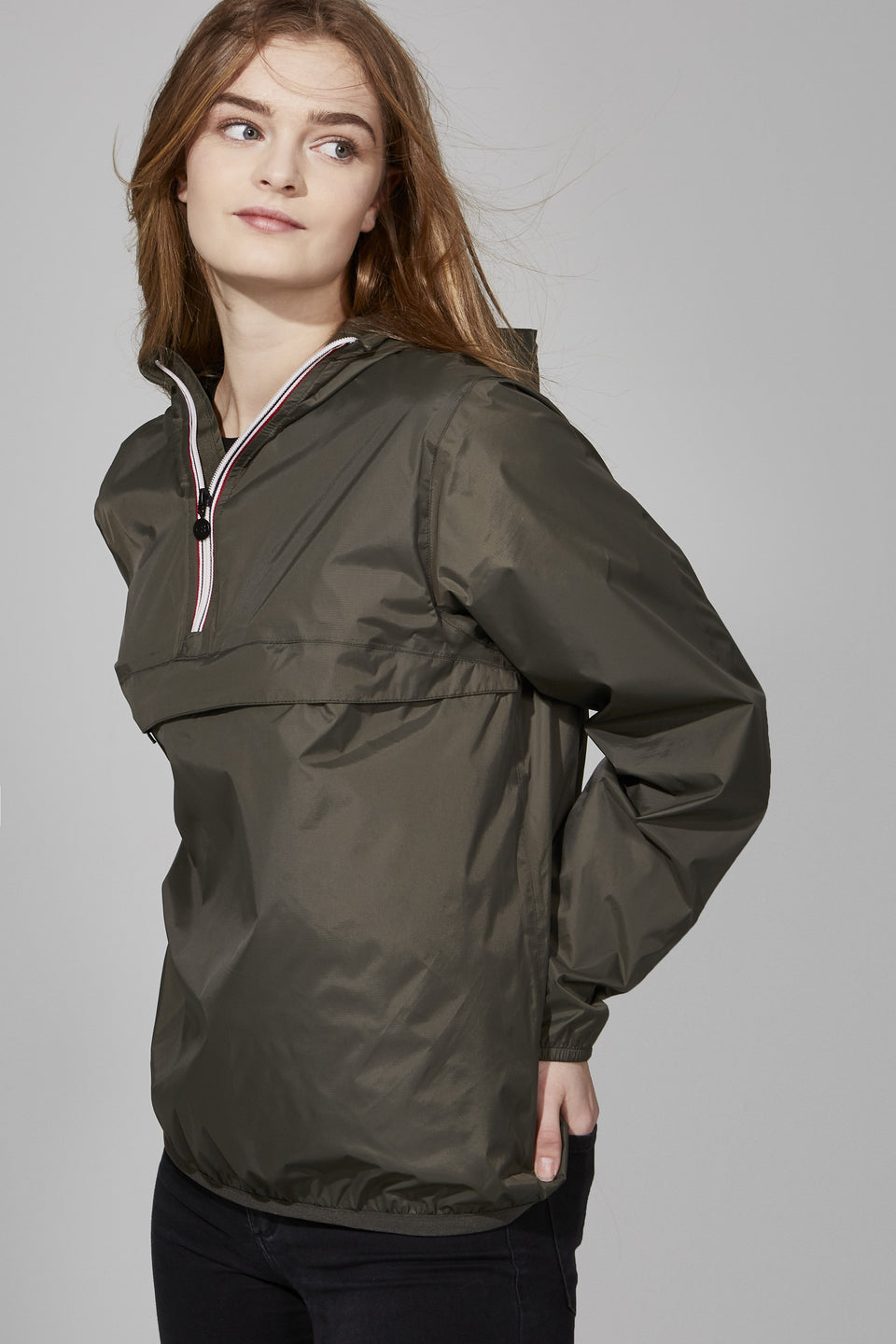Torba Quarter Zip Packable Jacket - Women -  O8lifestyle