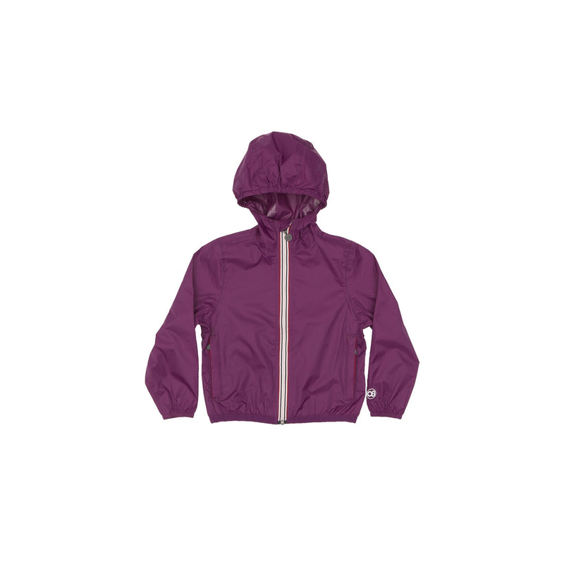 Kids Grape Full Zip Packable Jacket - Kids -  O8lifestyle