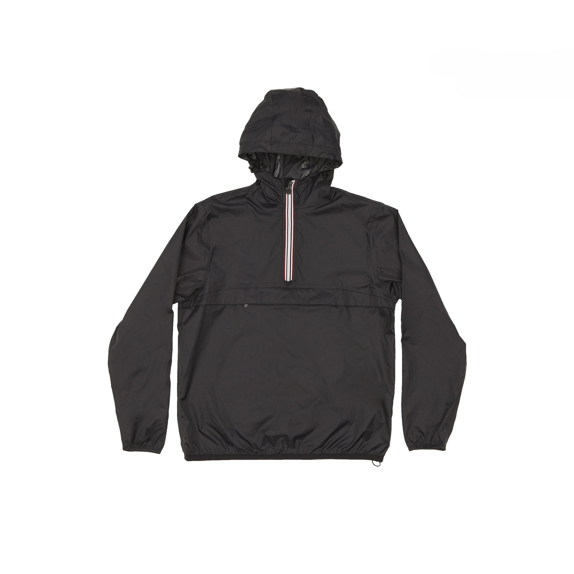 Black Quarter Zip Packable Jacket