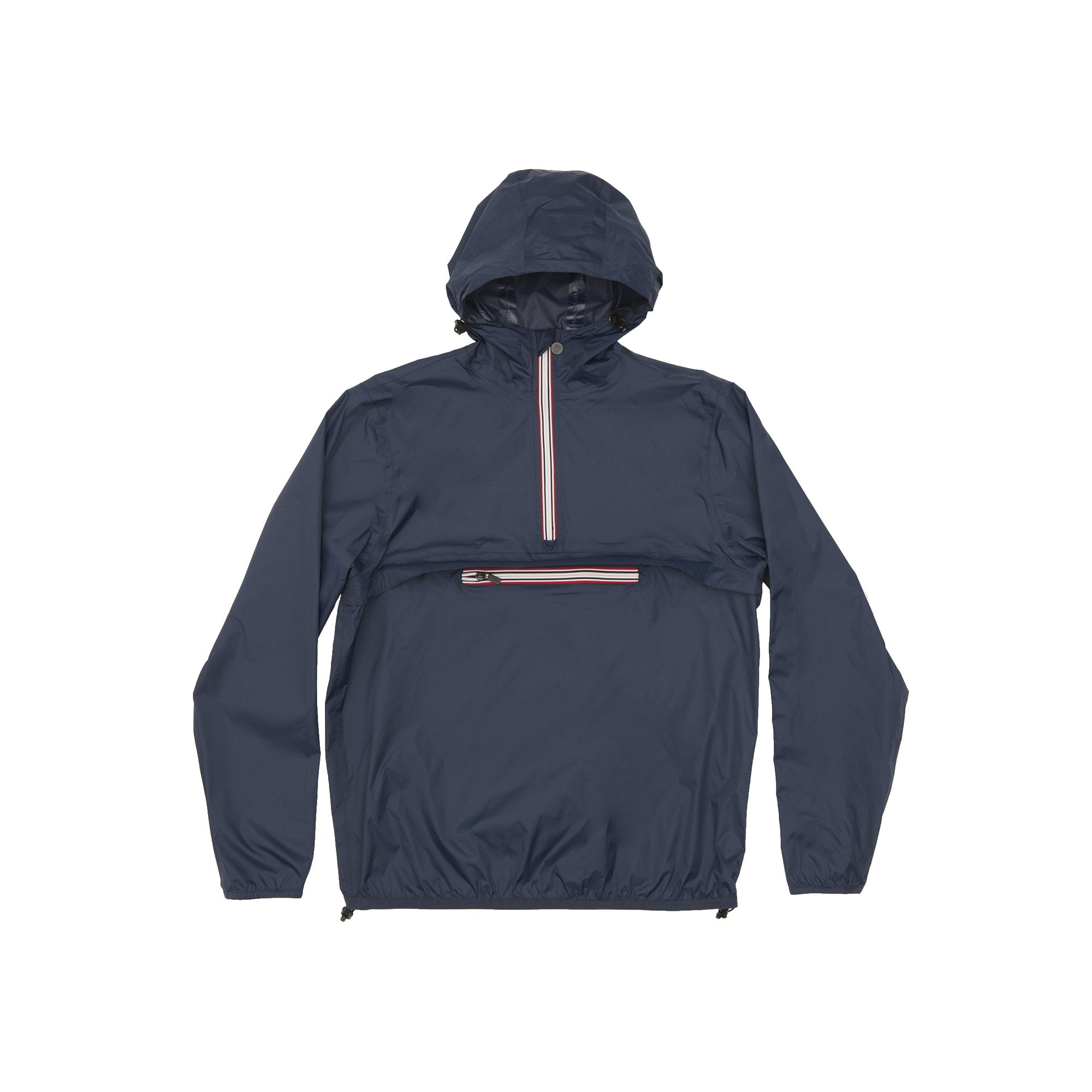 Navy Quarter Zip Packable Jacket