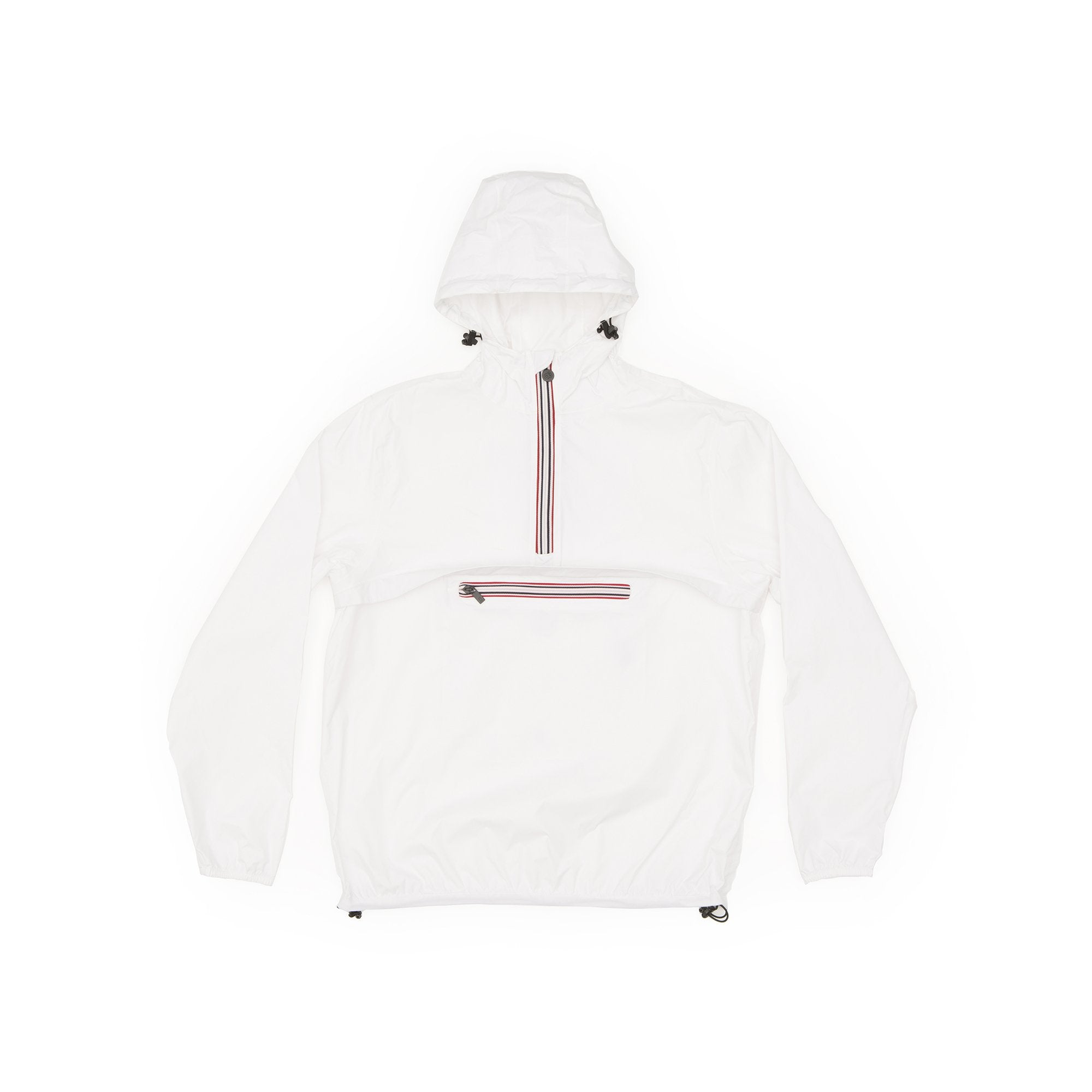 White Quarter Zip Packable Jacket