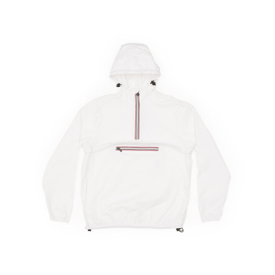 White Quarter Zip Packable Jacket - Women -  O8lifestyle