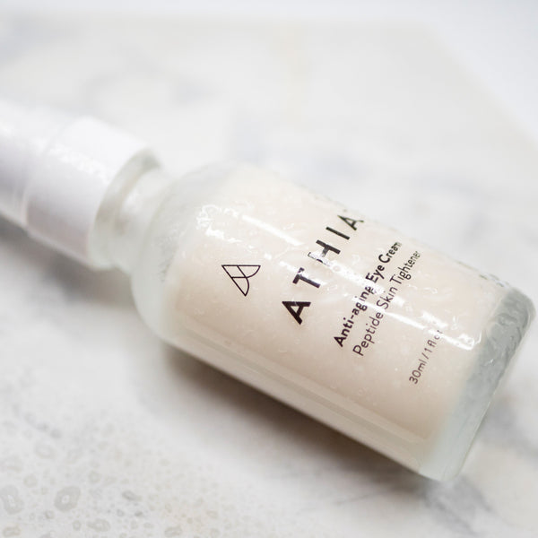 Athia Anti-Aging Eye Cream with Peptide Skin Tightener for Healthy and Happy Skin, Made from High Quality and Safe Ingredients - from Athia Skin in USA