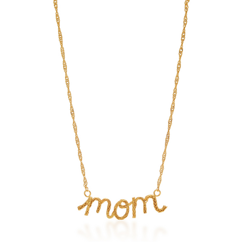 SMALL BRAIDED INITIALS LETTER NECKLACE