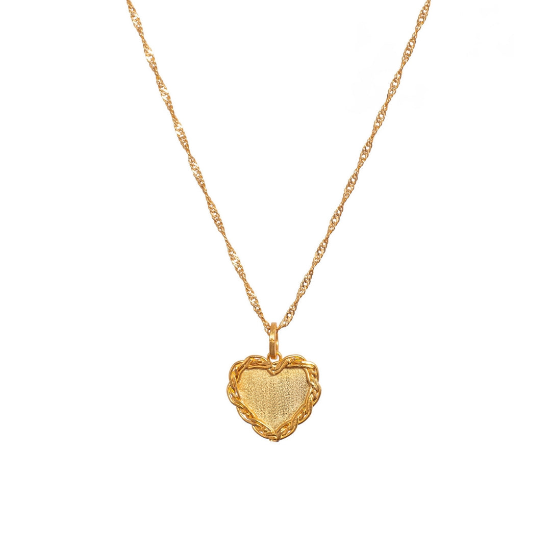 Liza Echeverry Colombia Colombian Jewelry Designer Initials and Charms Collection Heart Braided Love Necklace