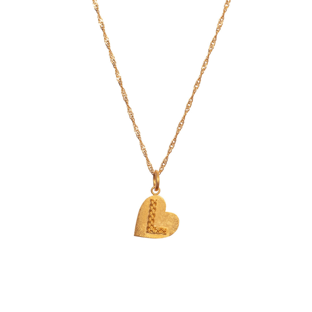 Liza Echeverry Colombia Colombian Jewelry Designer Initials and Charms Collection Heart Initial Necklace