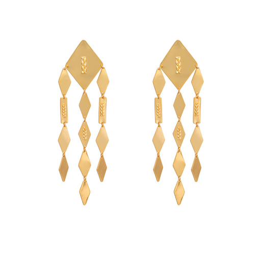 Liza Echeverry Colombia Colombian Jewelry Designer Raices Earrings Roots Collection
