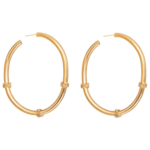 PETIT BRAIDED CHARM HOOPS
