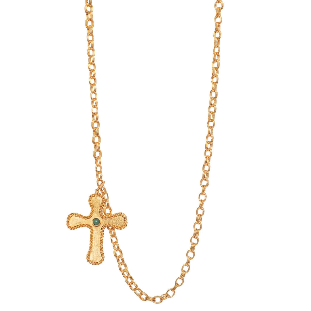 Liza Echeverry Colombia Colombian Jewelry Designer Stardust Collection Prince Big Cross Necklace