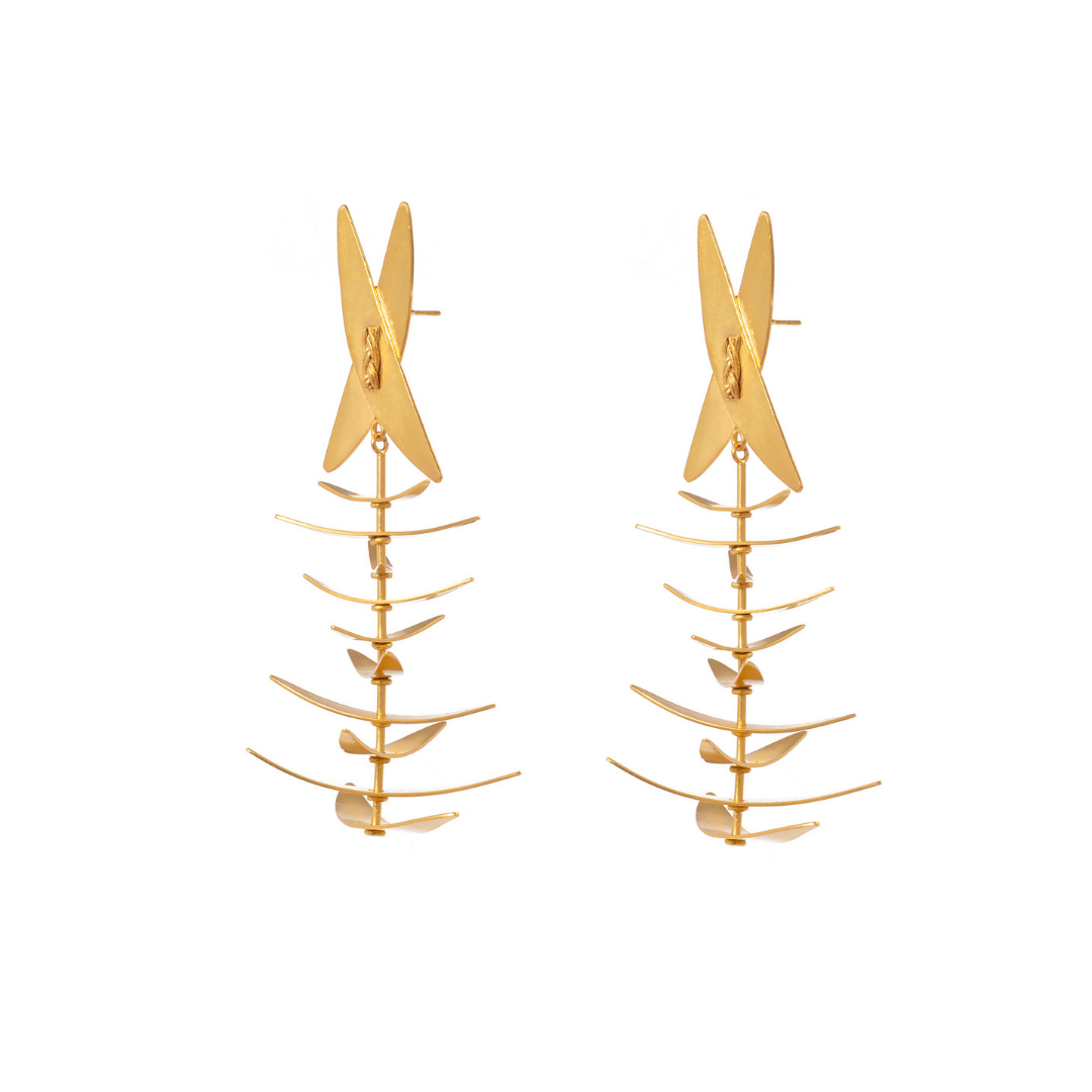 Liza Echeverry Colombia Colombian Jewelry Designer Sueño Earrings Roots Collection