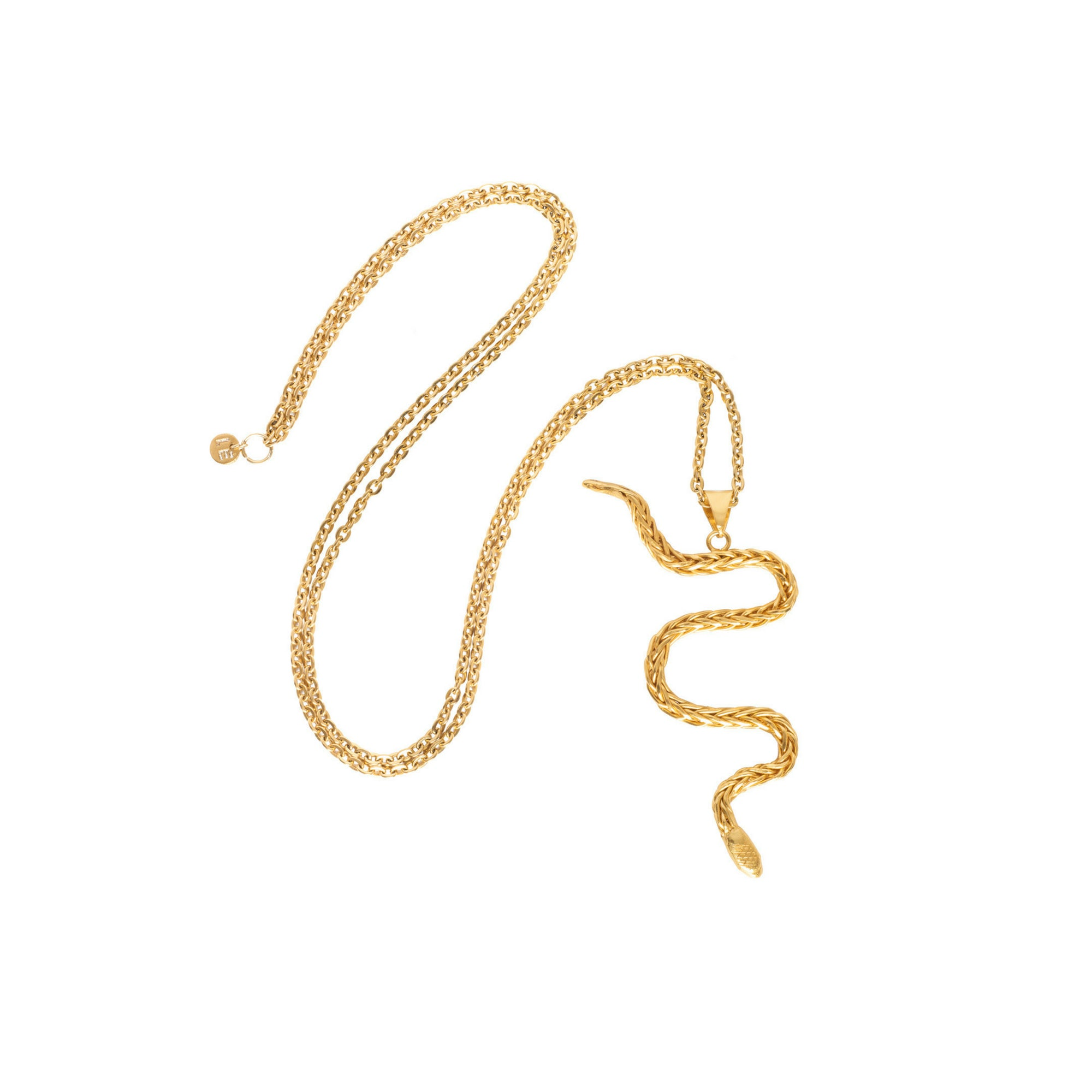 Liza Echeverry Jewelry Colombia Anaconda Necklace Gold
