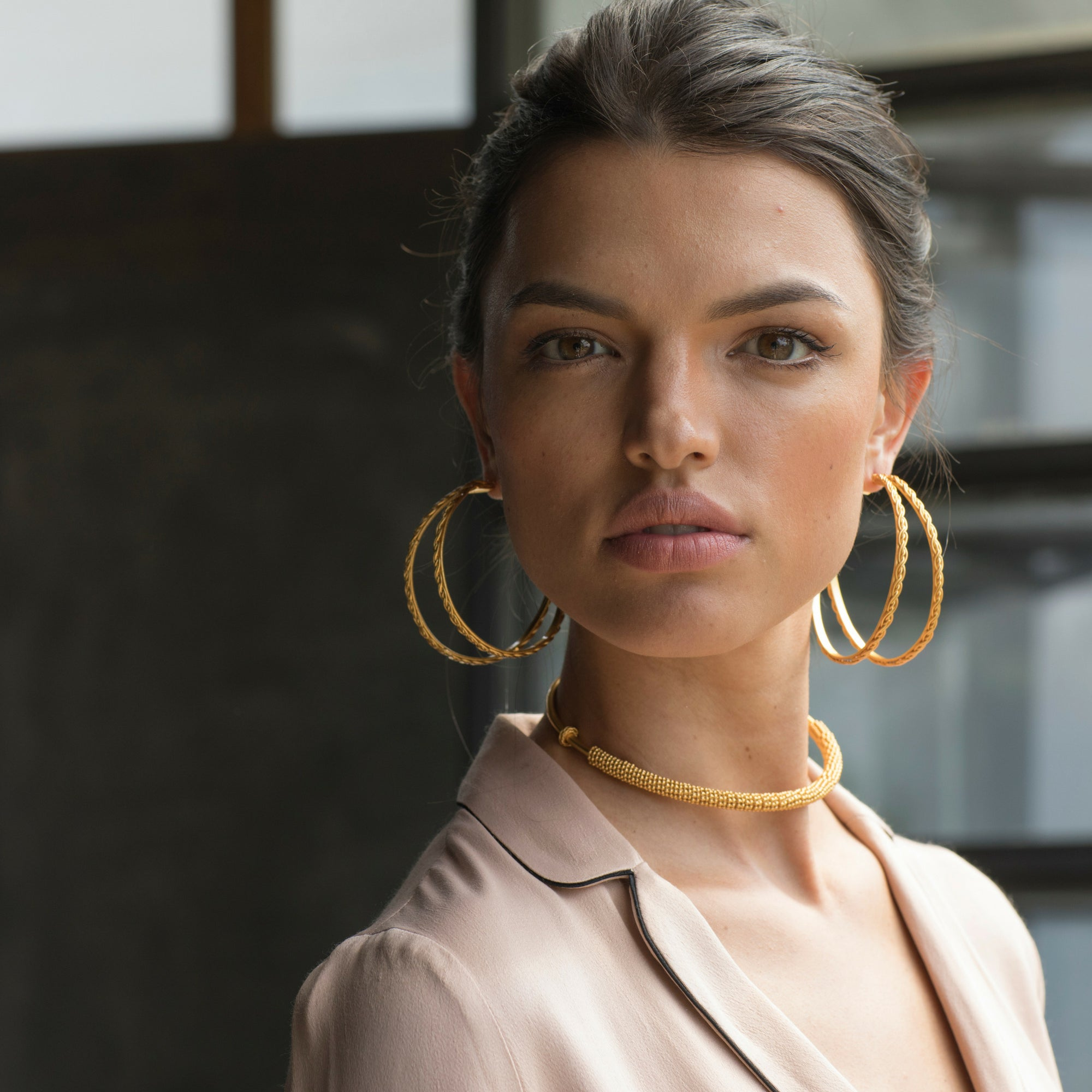 Liza Echeverry Jewelry Colombia Assemble Earrings Gold