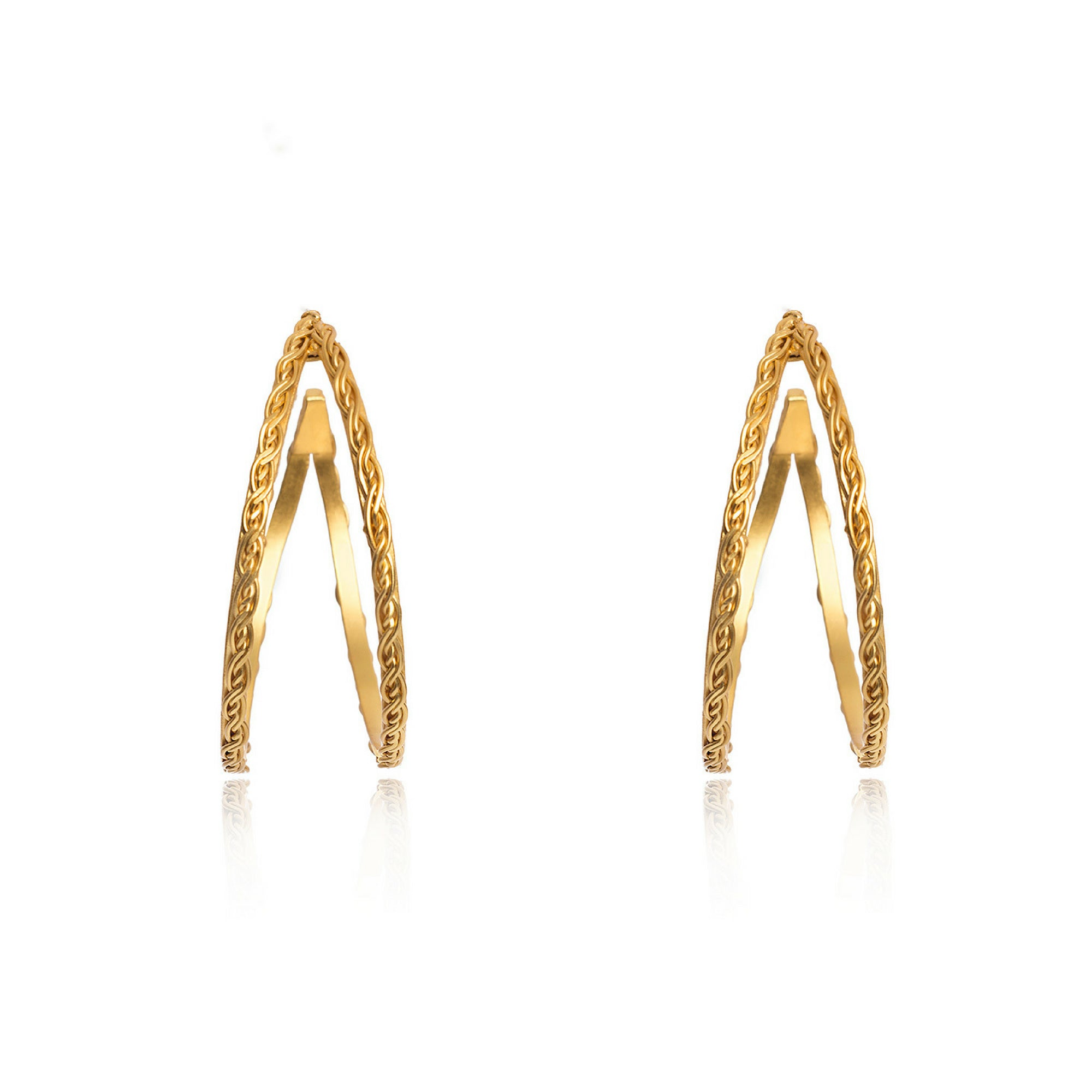 Liza Echeverry Jewelry Colombia Assemble Hoops Earrings Gold
