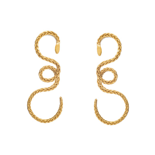 Liza Echeverry Jewelry Colombia King Cobra Earrings Gold