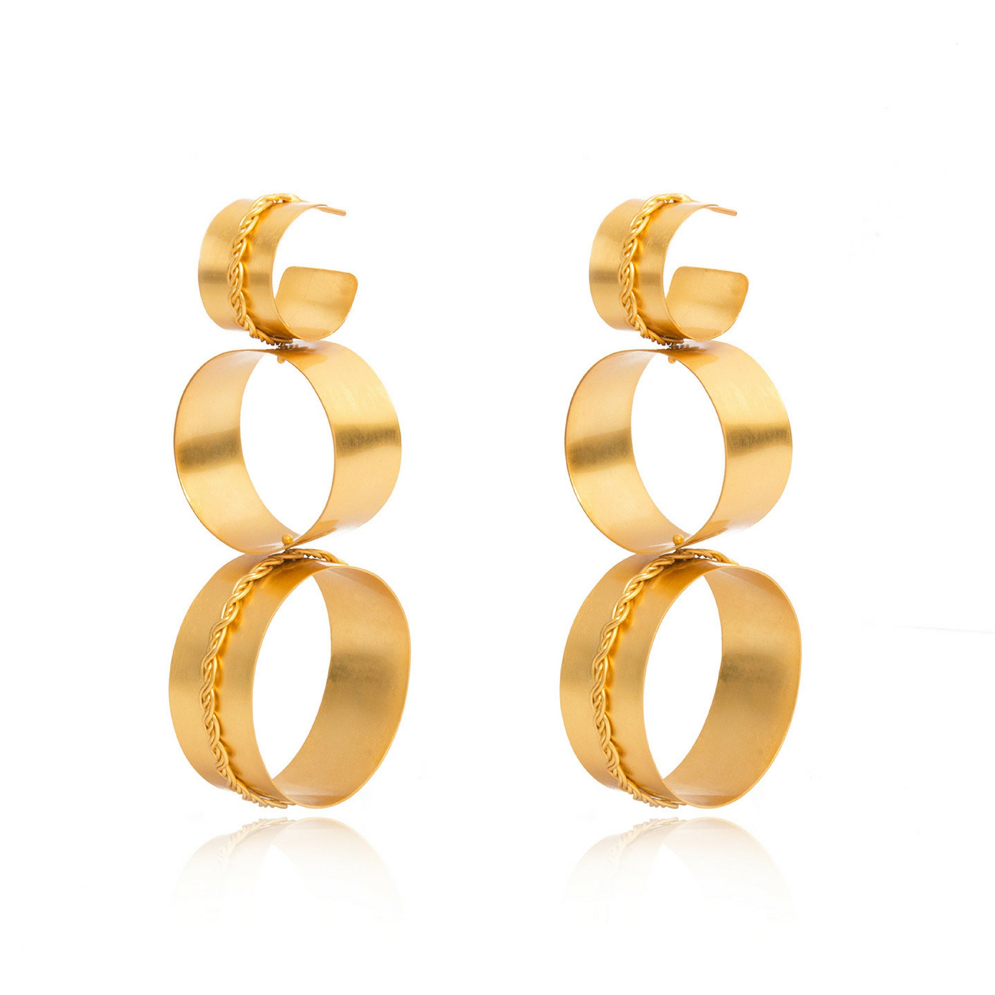 Liza Echeverry Jewelry Colombia Connection Earrings Gold