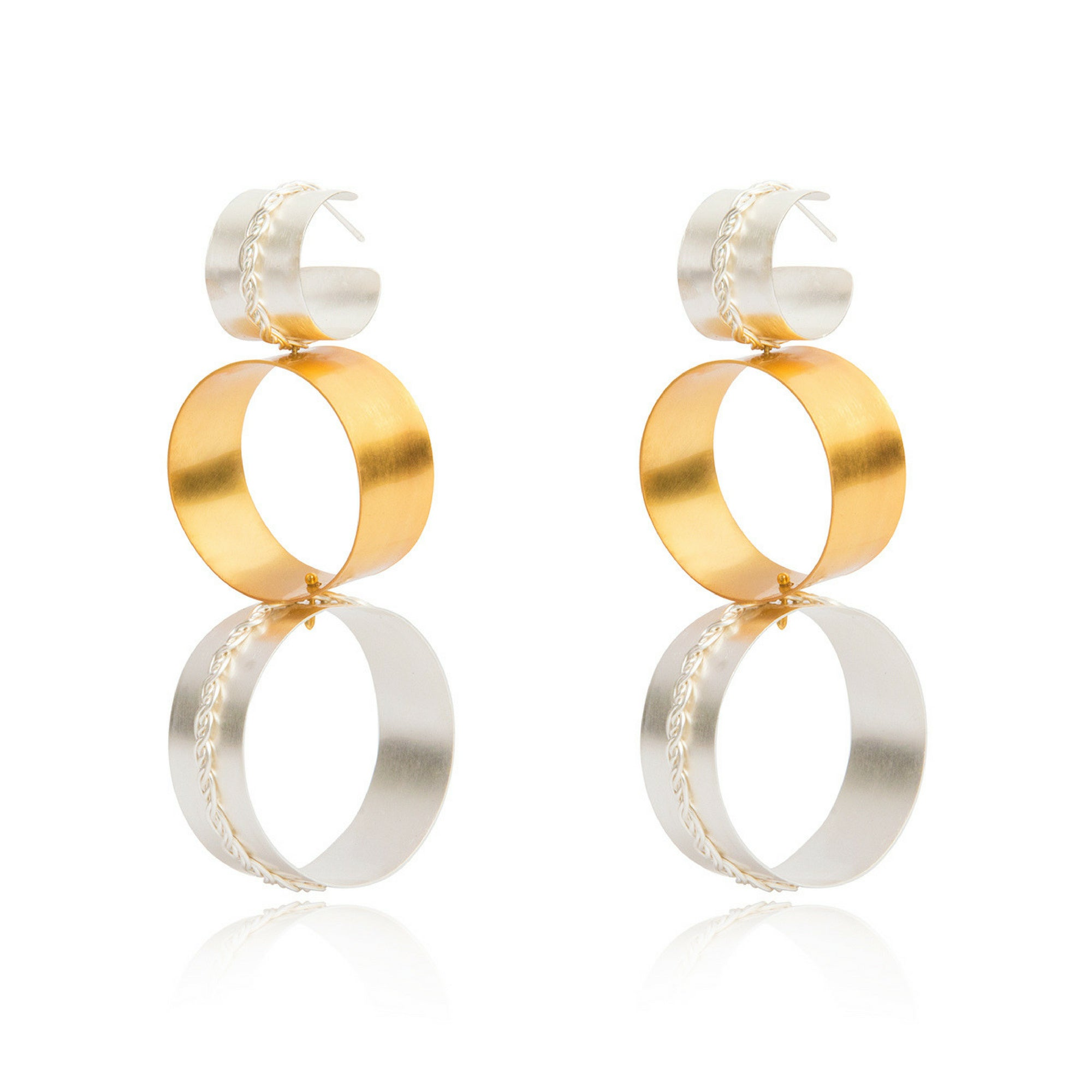 Liza Echeverry Jewelry Colombia Connection Earrings Mixed Gold