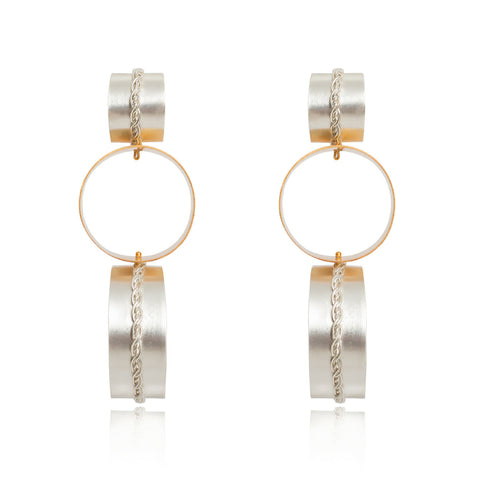 Liza Echeverry Jewelry Colombia Connection Earrings White Gold