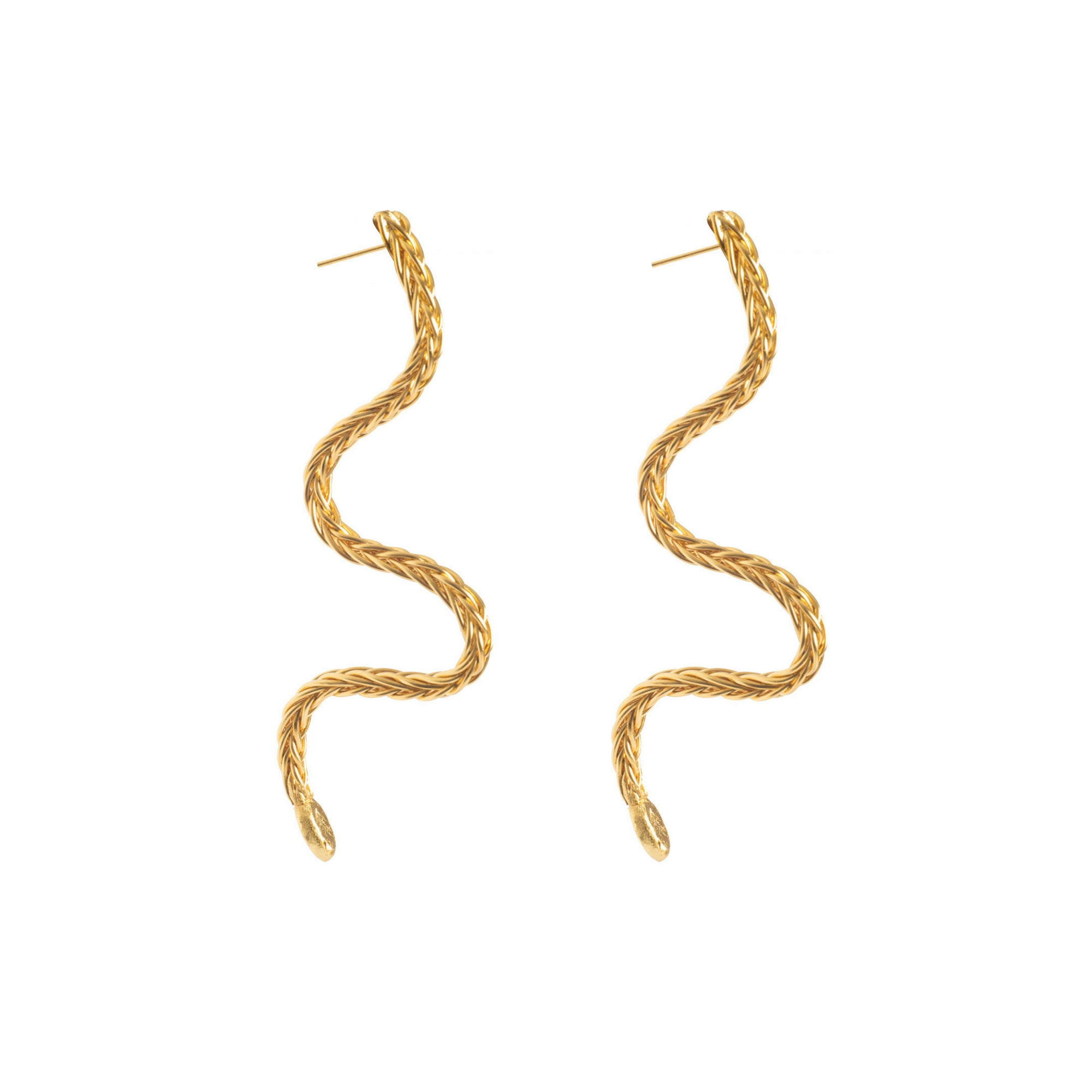 Liza Echeverry Jewelry Colombia Coral Earrings Gold