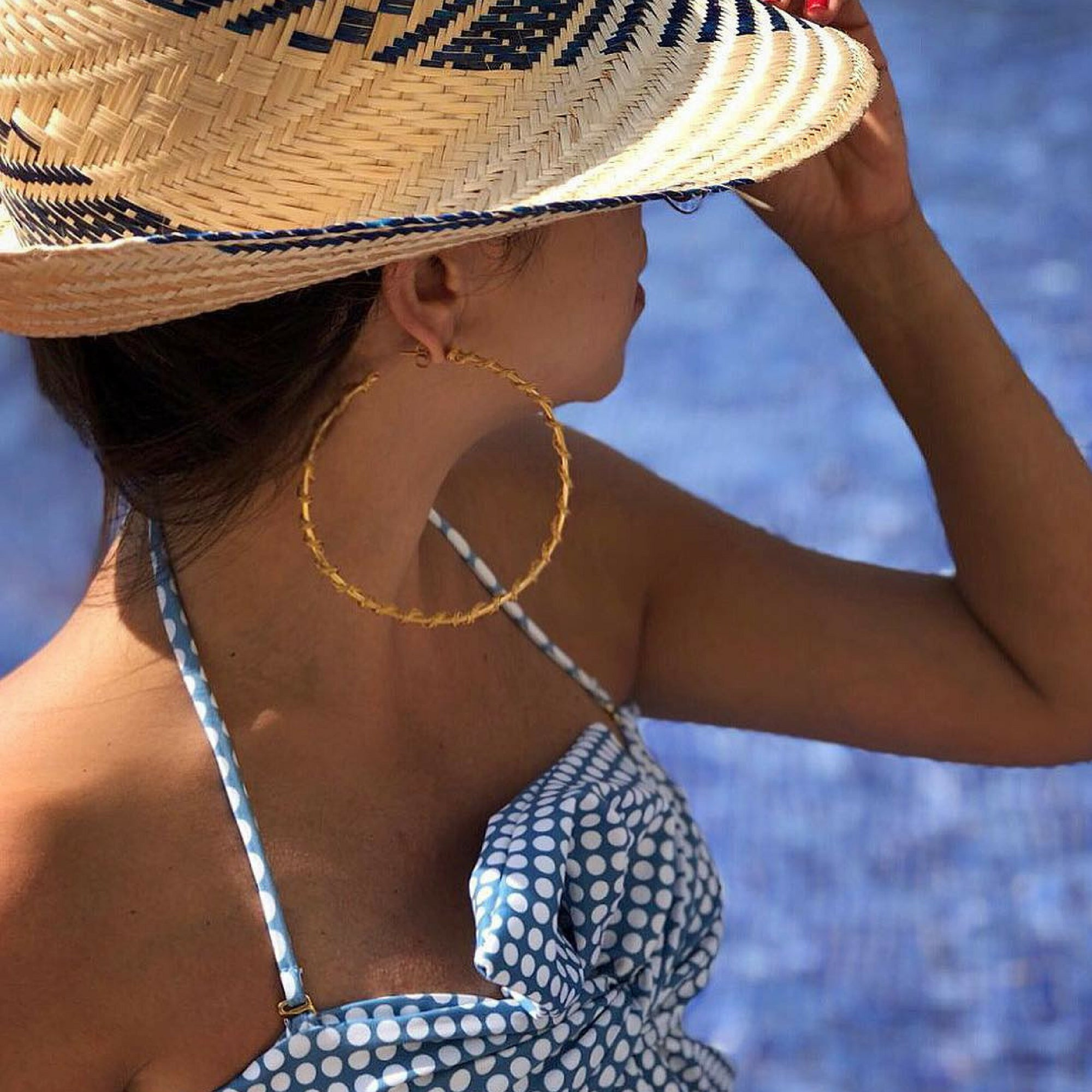 Liza Echeverry Jewelry Colombia Giant Gitana Hoops Gold