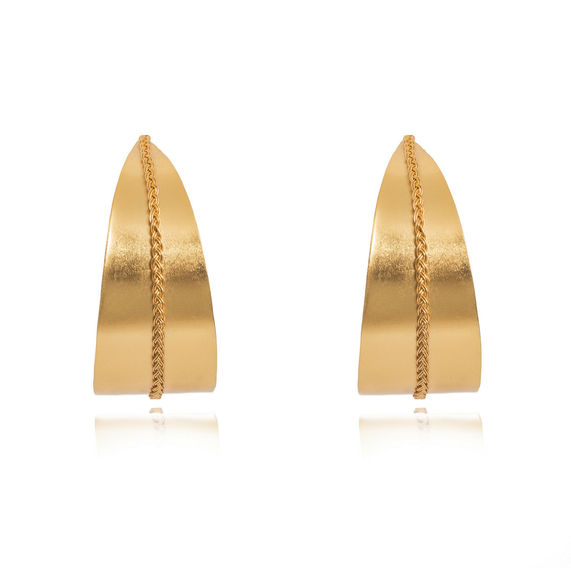 Liza Echeverry Jewelry Colombia Grand Arque Earrings Gold