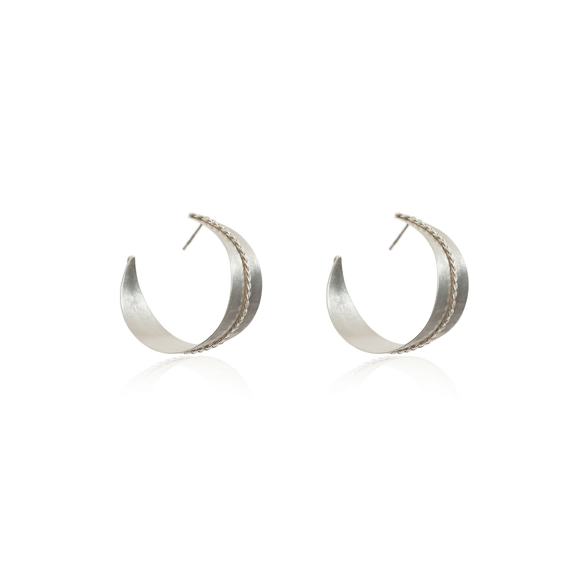 Liza Echeverry Jewelry Colombia Grand Arque Earrings White Gold