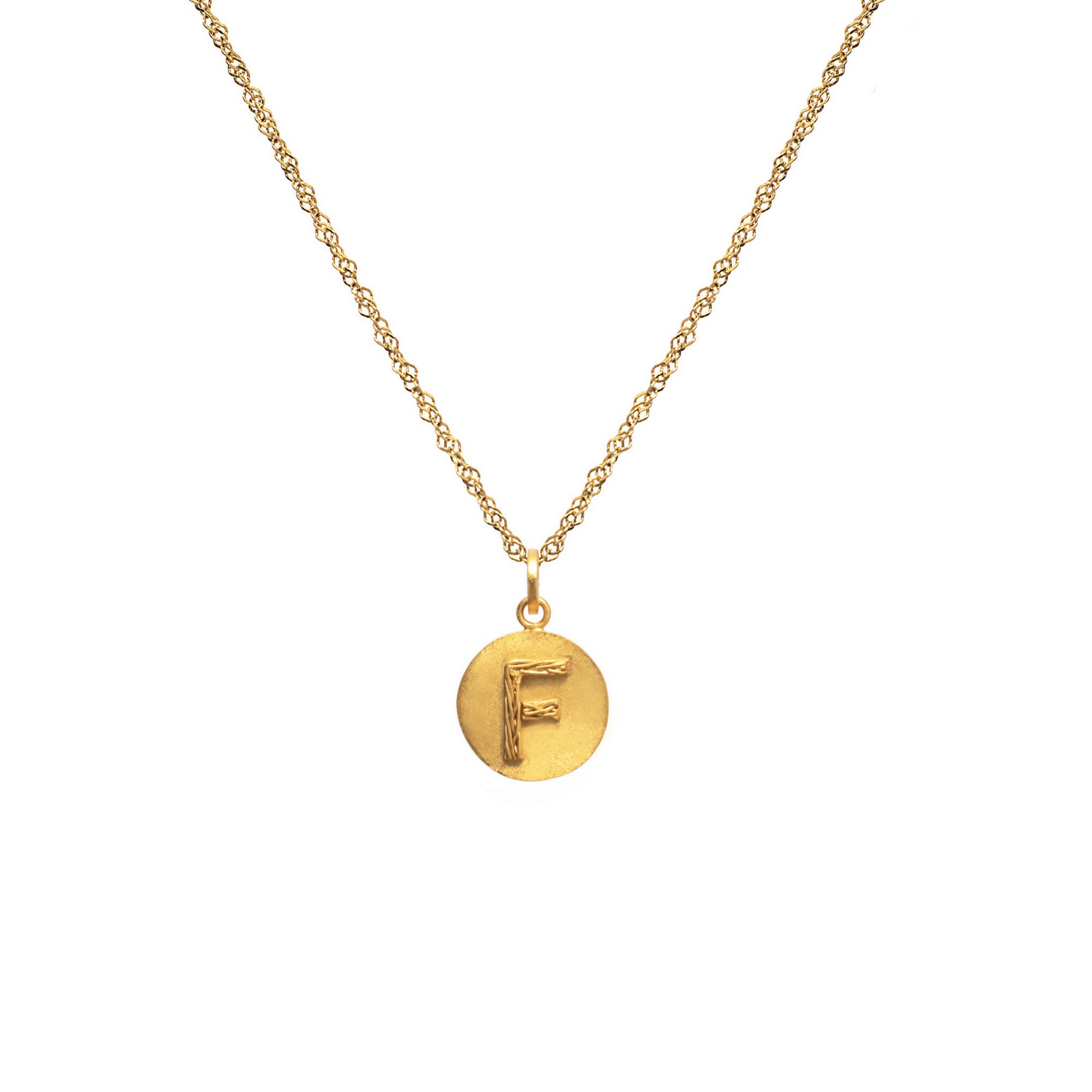 Liza Echeverry Jewelry Colombia Initials Capsule Collection Charm Initials Necklace