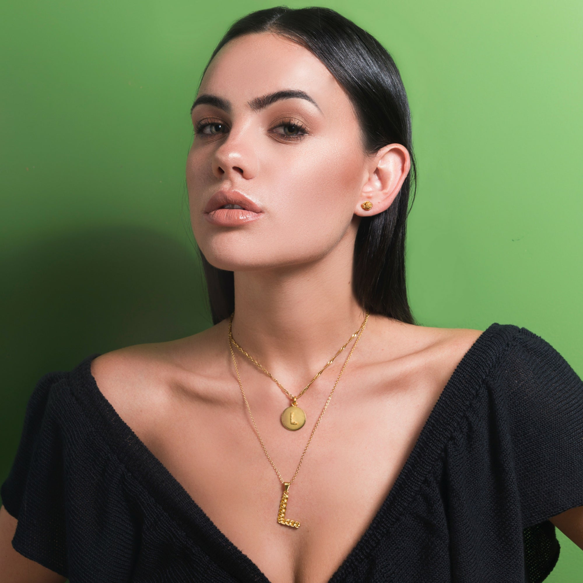 Liza Echeverry Jewelry Colombia Initials Capsule Collection Initial Necklace