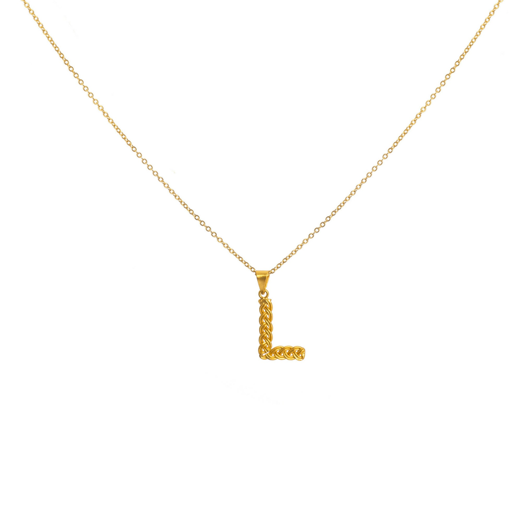 Liza Echeverry Jewelry Colombia Initials Necklace Gold