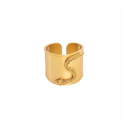 Liza Echeverry Jewelry Colombia Flat Mamba Ring Gold