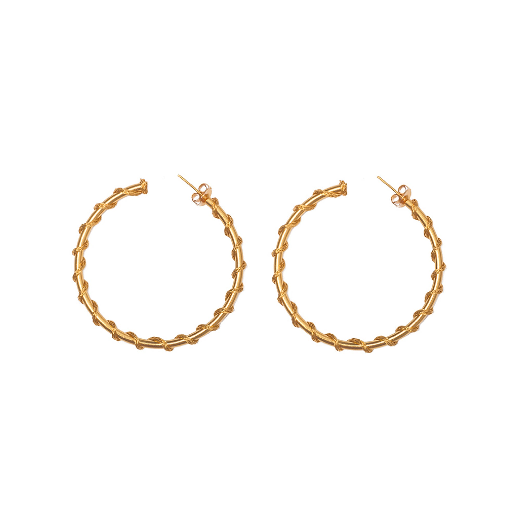 Liza Echeverry Jewelry Colombia Big Gitana Hoops Gold