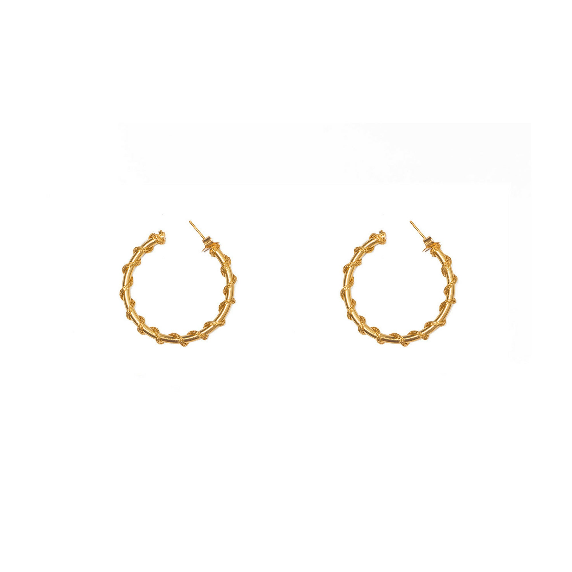 Liza Echeverry Jewelry Colombia Medium Gitana Hoops Gold