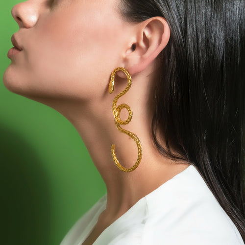 Liza Echeverry Jewelry Colombia Snake Capsule Collection Cobra Earrings