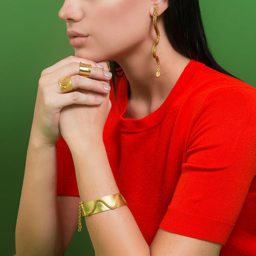 Liza Echeverry Jewelry Colombia Snake Capsule Collection Coral Earrings
