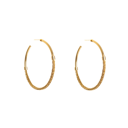Liza Echeverry Jewelry Colombia Snake Skin Hoops Gold