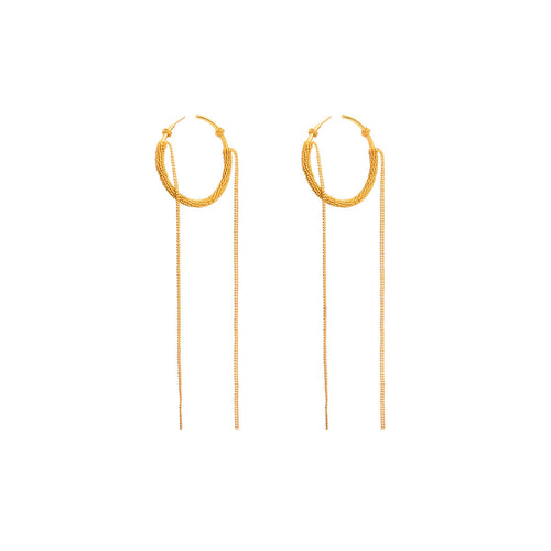 Liza Echeverry Jewelry Colombia Snaky Hoops Gold