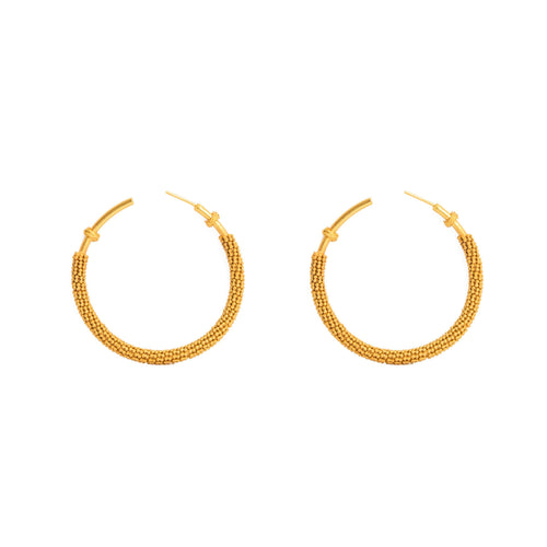 Liza Echeverry Jewelry Colombia Spirale Earrings Hoops Gold