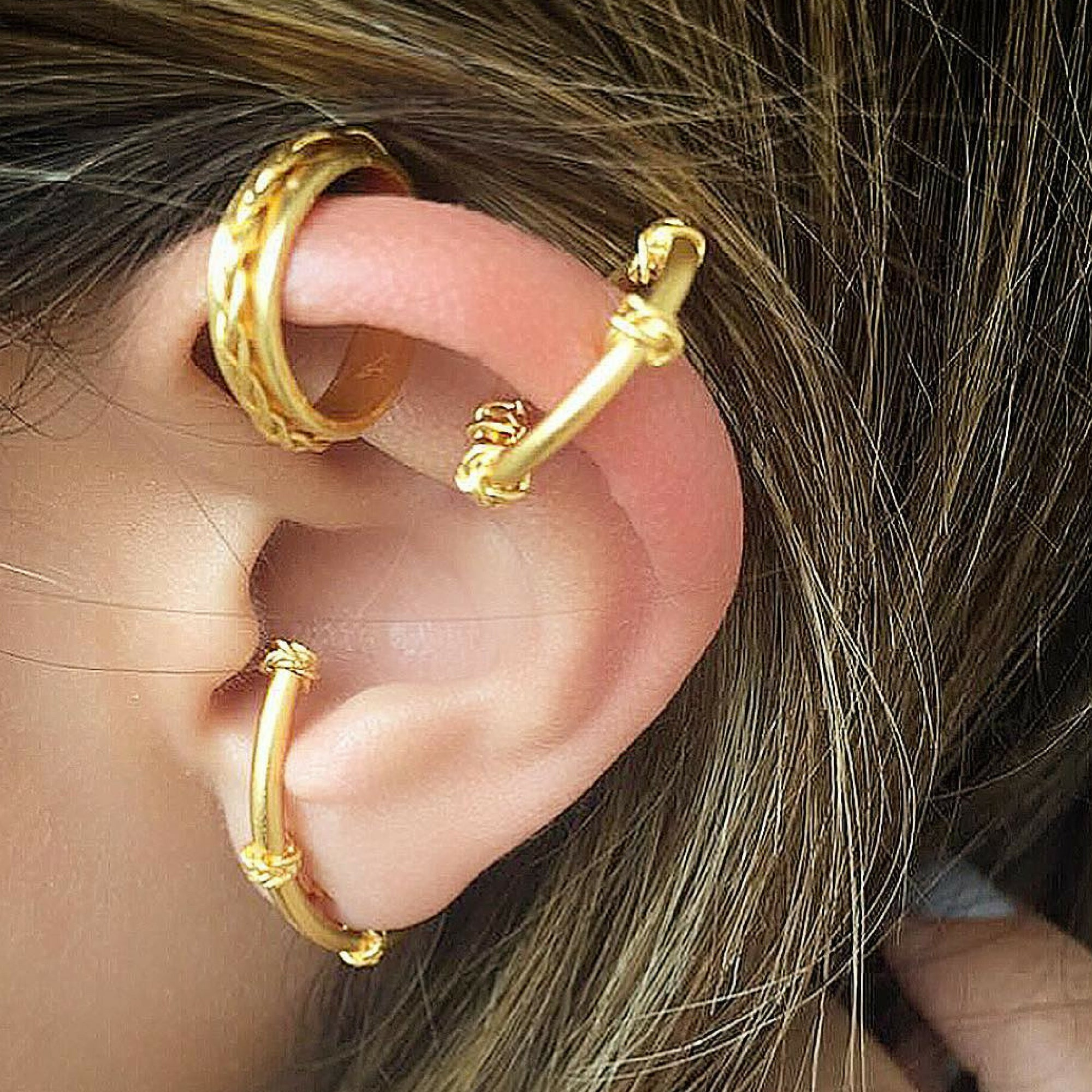 Liza Echeverry Jewelry Designer Colombia Classics Collection Four Braids Ear Cuff Set